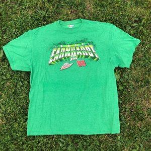 Nascar Tops - NEON NASCAR TEE, Dale. Jr. Bright green XL